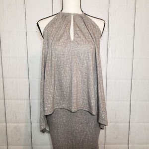 Grey Soft Cotton Skirt & Wrap Blouse